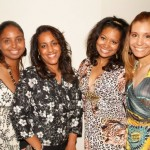 SuVon & Siana Treece pose with their aunts Dina and Diane.