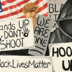 """Black Lives Matter""24""x36""SuVon TreeceSOLD"