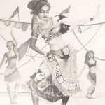 """Gypsy Dancers""18""x24""Siana Treece $200.00 $100 - 50% off(Poster frame included)"