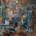 """Street Scene Abstract""36""x48""SuVon Treece SOLD"