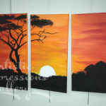 """Village Sunset""16""x20""SuVon Treece $200.00"